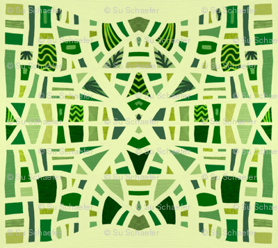 Hourglasses in mosaic greens by Su_G