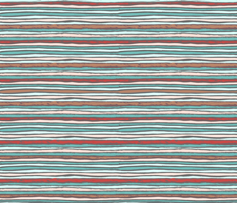Lips to the sea 5 fabric by lucybaribeau on Spoonflower - custom fabric