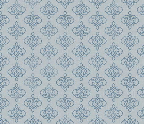 Jhali in Indigo fabric by forest&sea on Spoonflower - custom fabric