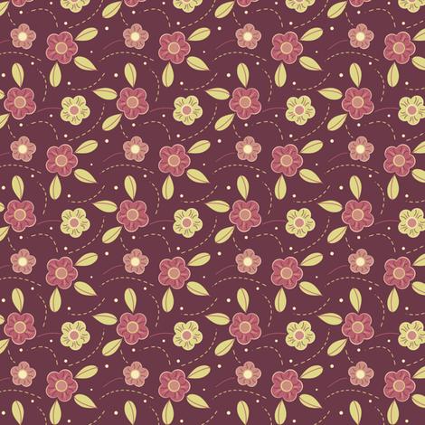 Deep Purple Flowers fabric by eppiepeppercorn on Spoonflower - custom fabric