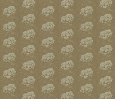 Camelia on Tabacco Brown fabric by retrofiedshop on Spoonflower - custom fabric