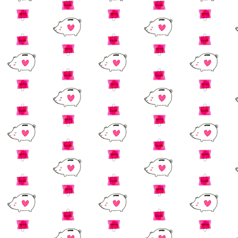 Shopping_Pig fabric by dailycandy on Spoonflower - custom fabric