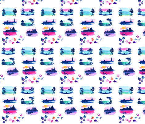 Beach Bliss fabric by dailycandy on Spoonflower - custom fabric