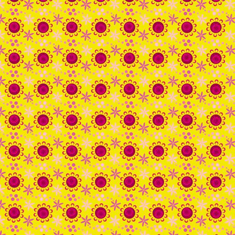 woodland teepee coordinate: yellow flowers fabric by coggon_(roz_robinson) on Spoonflower - custom fabric