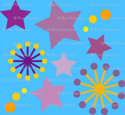 woodland teepee coordinate: blue stars