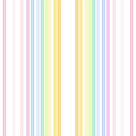 Rainbow Pastel - Double Striped -  © PinkSodaPop 4ComputerHeaven.com fabric by pinksodapop on Spoonflower - custom fabric