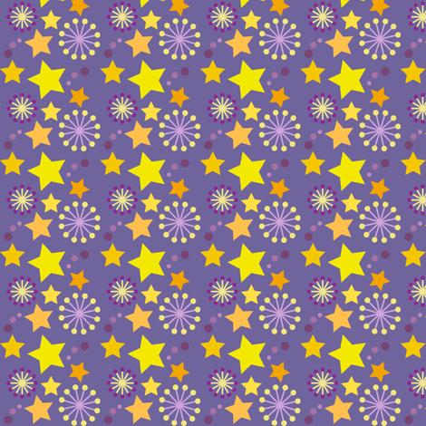 woodland teepee coordinate: purple stars fabric by coggon_(roz_robinson) on Spoonflower - custom fabric