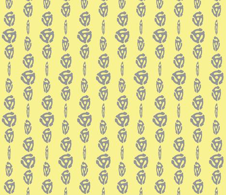 Spinning 45's - Lemon/Gray fabric by owlandchickadee on Spoonflower - custom fabric