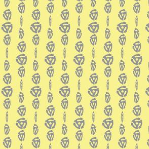 Spinning 45's - Lemon/Gray
