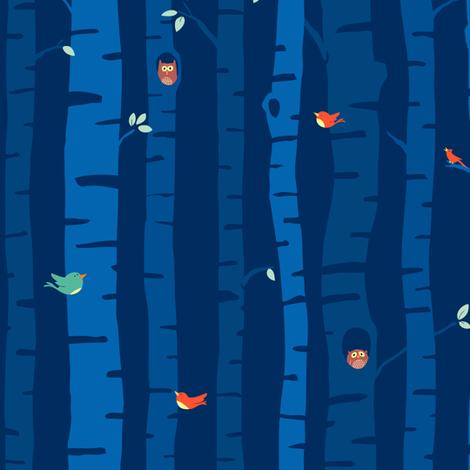 night trees fabric by sheena_hisiro on Spoonflower - custom fabric