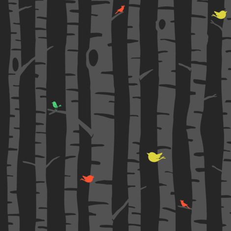 fall trees fabric by sheena_hisiro on Spoonflower - custom fabric