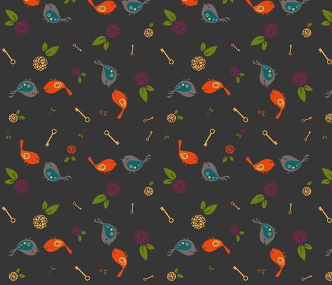 Little Birdies fabric by sheena_hisiro on Spoonflower - custom fabric