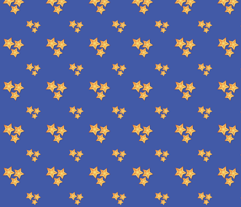 Golden Stars fabric by jjtrends on Spoonflower - custom fabric
