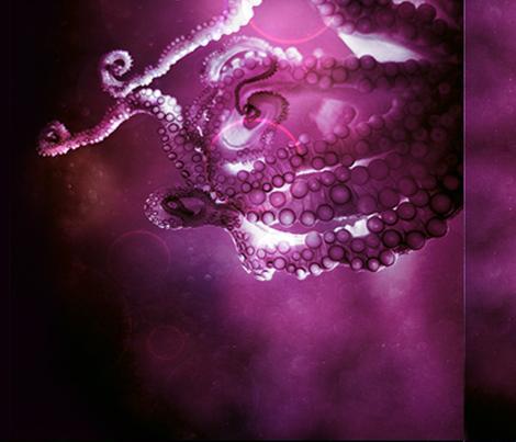 Octopus fabric by spaceship-lolita on Spoonflower - custom fabric