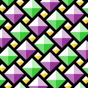 00920576 : 2:1 diamond gems : mardi gras