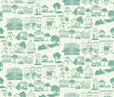 Providence Toile fabric by 1stpancake on Spoonflower - custom fabric