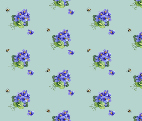 violets variation fabric by golders on Spoonflower - custom fabric