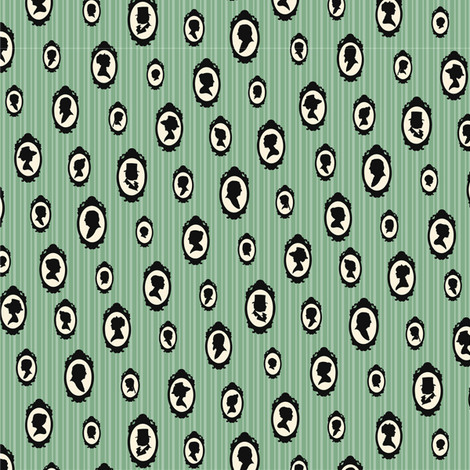 Mint Heirloom - small fabric by pyralisdesign on Spoonflower - custom fabric