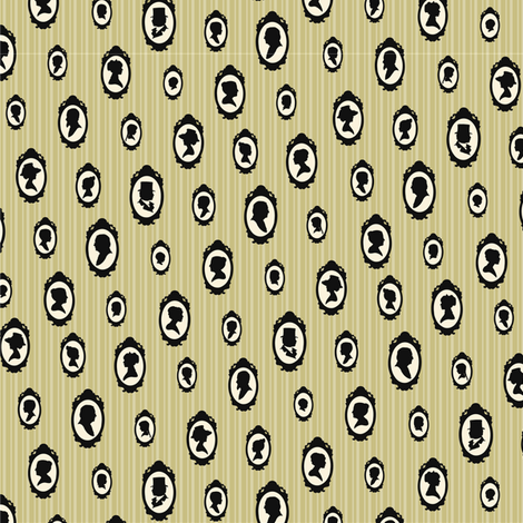 Vanilla Heirloom - small fabric by pyralisdesign on Spoonflower - custom fabric