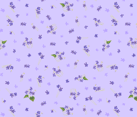 Violets (Medium) fabric by pyralisdesign on Spoonflower - custom fabric