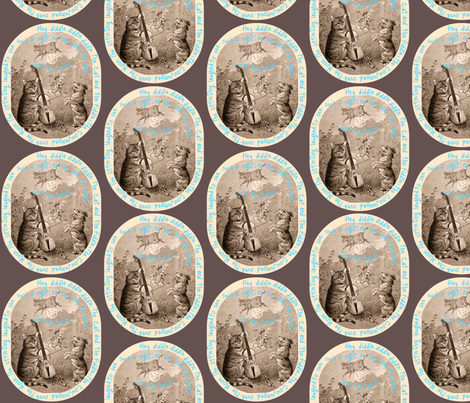 Hey Diddle Diddle fabric by the_cornish_crone on Spoonflower - custom fabric