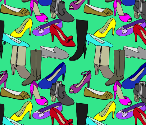 shoes fabric by cleverviolet on Spoonflower - custom fabric