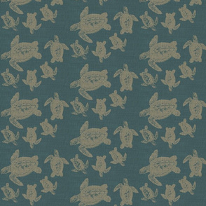 Turtle Fabric Blue