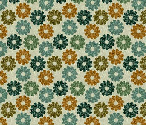art deco floral  fabric by glimmericks on Spoonflower - custom fabric