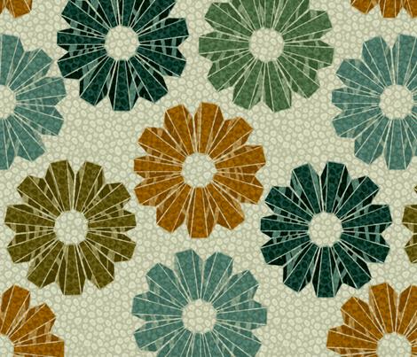 art deco floral 3x fabric by glimmericks on Spoonflower - custom fabric
