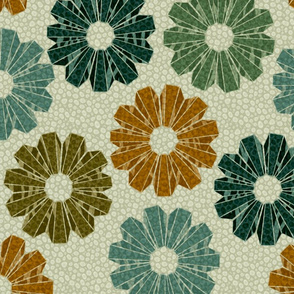 art deco floral 3x
