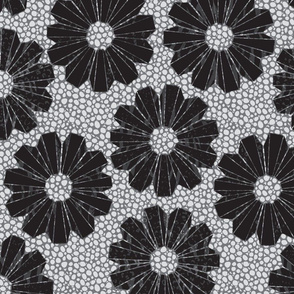 art deco floral on shagreen 4 color