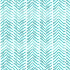 ornate owls ziggy zaggy coordinate (contrasting blues)