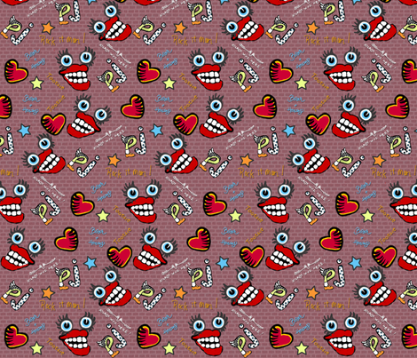 graffiti fabric by glimmericks on Spoonflower - custom fabric