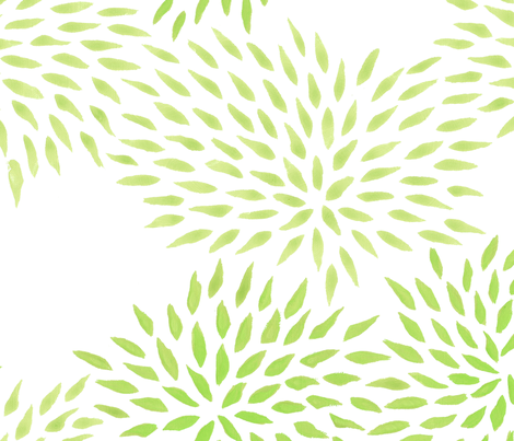 Summer Mums in moss fabric by domesticate on Spoonflower - custom fabric