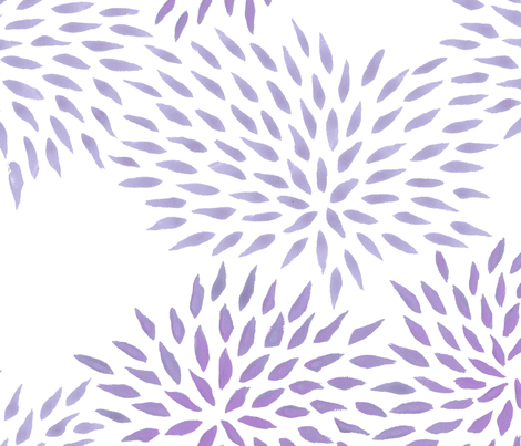 Summer Mums in lilac  fabric by domesticate on Spoonflower - custom fabric