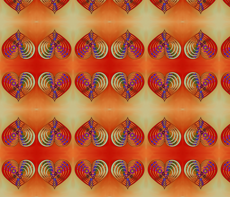 multi_layer_heart_with_flowers fabric by vinkeli on Spoonflower - custom fabric