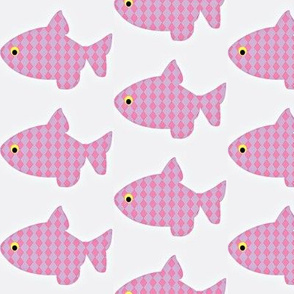Fish a float. pink n purple