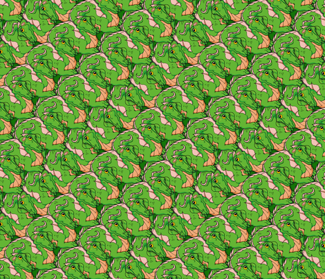froggy dragon fabric by hannafate on Spoonflower - custom fabric