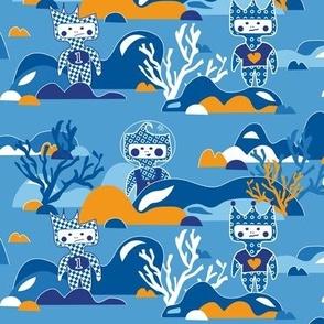 Underwater dolls
