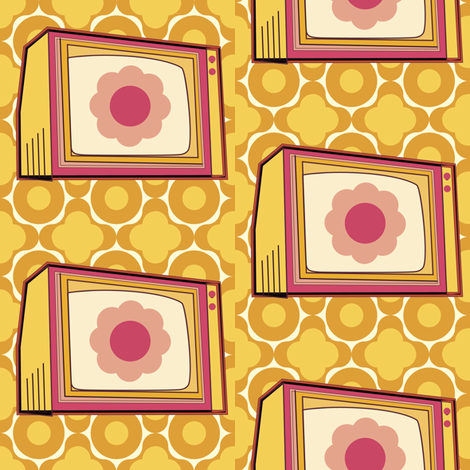 vintageTV fabric by lilliblomma on Spoonflower - custom fabric