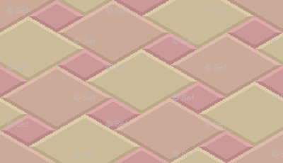 2:1 isometric 3D square tiling