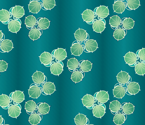 lily pad fantasy fabric by hannafate on Spoonflower - custom fabric
