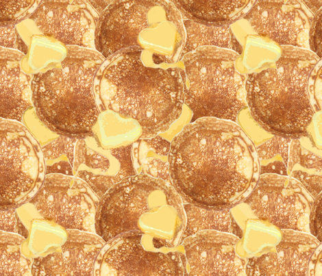 Pancakes and Butter fabric by jabiroo on Spoonflower - custom fabric