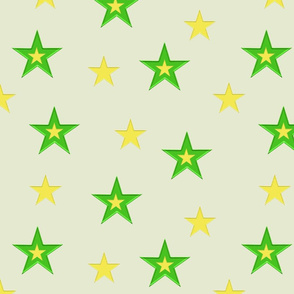 Green and Yellow Stars (medium)