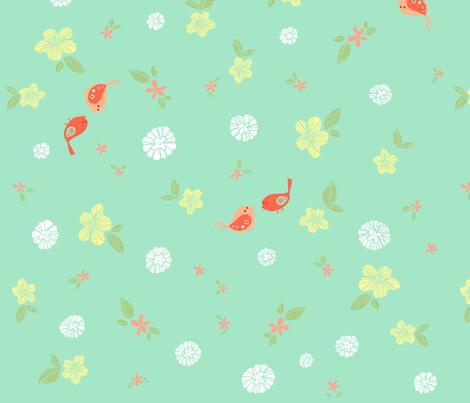 Floral fabric by sheena_hisiro on Spoonflower - custom fabric