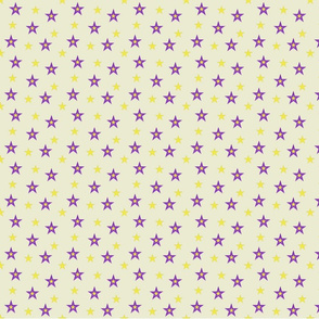 Purple and Yellow Stars (medium)