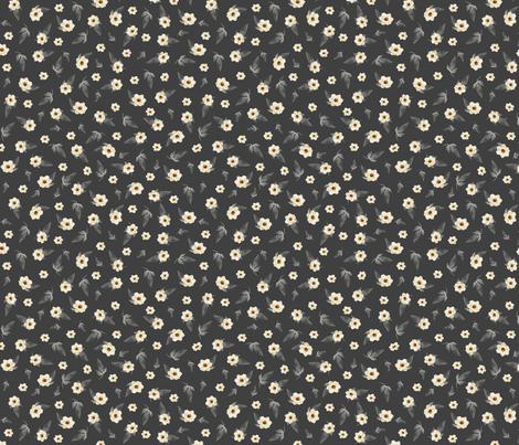 Tiny Magnolias on Grey fabric by jabiroo on Spoonflower - custom fabric