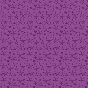 Purple Stars on Purple