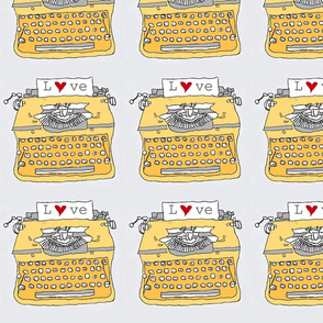 yellow typewriter love