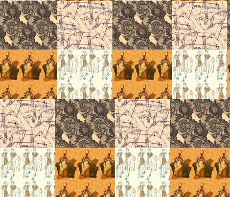 Foursquare, high style fabric by nalo_hopkinson on Spoonflower - custom fabric
